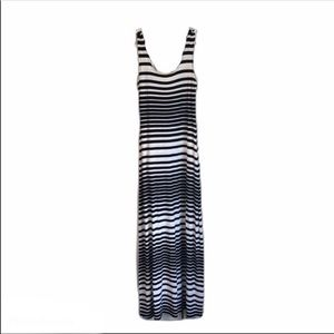 COPY - Merona Maxi Dress Black & White Stripe SZ …